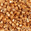 Square Beads 3.4x3.4mm Metalic Gold Terra Color